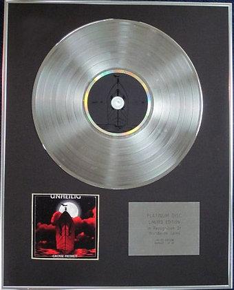 UNHEILIG - Limited Edition CD Platinum Disc - GROSSE FREIHEIT