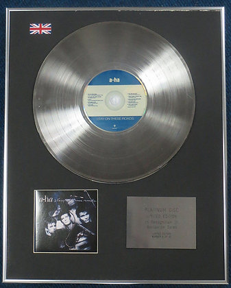 A-ha - Limited Edition CD Platinum LP Disc - Stay on these Roads