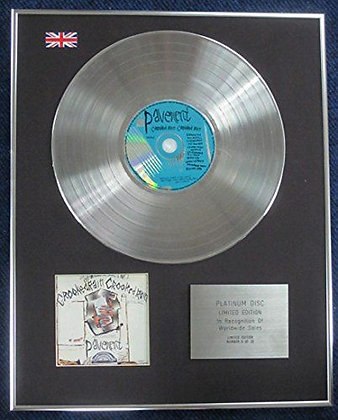 Pavement - Limited Edition CD Platinum LP Disc - Crooked Rain
