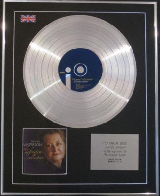 NORMA WATERSON CD Platinum Disc- DEFINITIVE COLLECTION