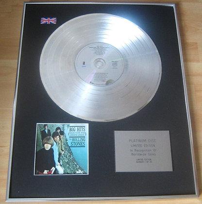 ROLLING STONES - CD Platinum Disc - BIG HITS, HIGH TIDE