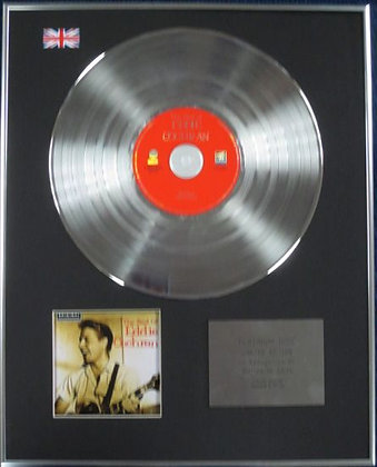 EDDY COCHRAN - Limited Edition CD Platinum Disc - THE BEST OF