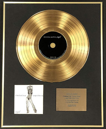 Christina Aguilera - Exclusive Limited Edition 24 Carat Gold Disc - Stripped