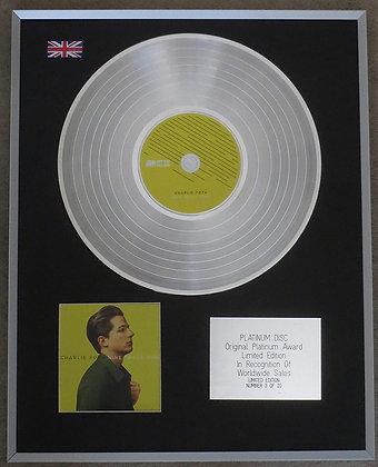 CHARLIE PUTH - Limited Edition CD Platinum Disc - NINE TRACK MIND