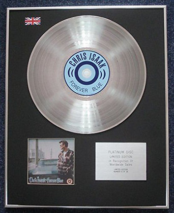 Chris Isaak - Limited Edition CD Platinum LP Disc - Forever Blue