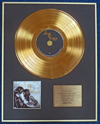 A STAR IS BORN with LADY GAGA - Ltd  CD 24 Carat Gold Coated LP Disc- Soundtrack