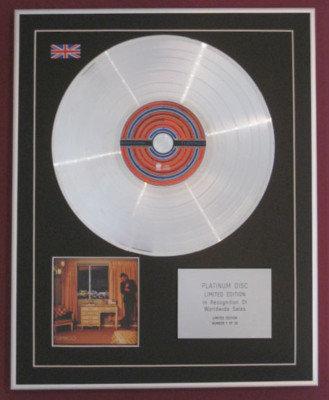 BRANDON FLOWERS -Ltd Edtn CD Platinum Disc - FLAMINGO