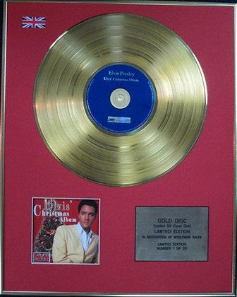 ELVIS PRESLEY - Limited Edition CD 24 Carat Coated Gold Disc - ELVIS' CHRISTMAS…