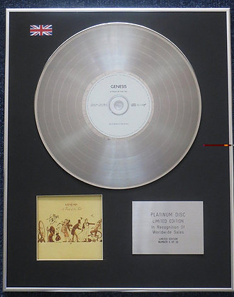 Genesis - Limited Edition CD Platinum LP Disc - Trick of the Tail