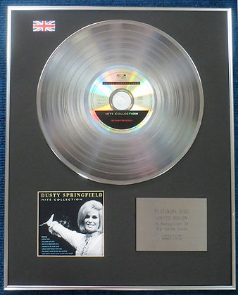 Dusty Springfield - Limited Edition CD Platinum LP Disc - Hits Collection