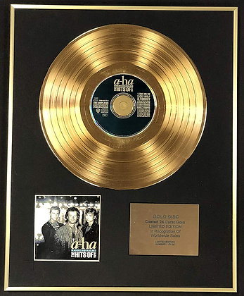 A-ha  - Exclusive Limited Edition 24 Carat Gold Disc - Headlines And Deadlines