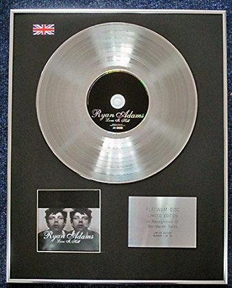Ryan Adams - Limited Edition CD Platinum LP Disc - Love Is Hell
