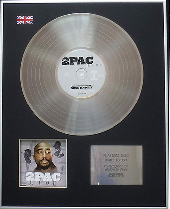 2Pac (Tupac Shakur) - Limited Edition CD Platinum LP Disc - 2Pac Live