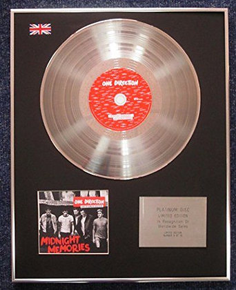 One Direction - Limited Edition CD Platinum LP Disc - Midnight Memories