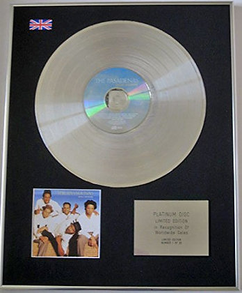 PASADENAS - Ltd Edition CD Platinum Disc - YOURS SINCERELY