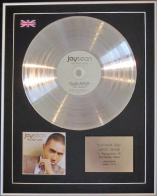 JAY SEAN  - CD Platinum Disc - MY OWN WAY