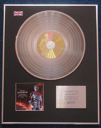 Michael Jackson - Limited Edition CD Platinum LP Disc - Anthology