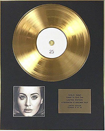 Adele - Exclusive Limited Edition 24 Carat Gold Disc - 25
