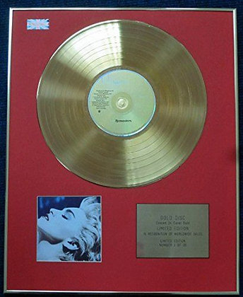 Madonna - Limited Edition CD 24 Carat Gold Coated LP Disc - True Blue