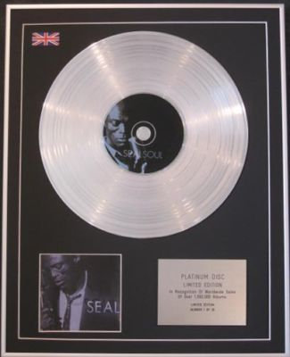 SEAL  - LIMITED CD Platinum Disc - SOUL