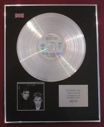 ORCHESTRAL MANOEUVRES IN THE DARK - Platinum Disc - BEST OF