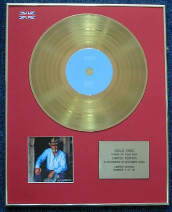 Don Williams - Limited Edition CD 24 Carat Gold Coated LP Disc - Best Of