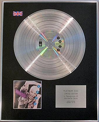 YAZZ - Limited Edition CD Platinum Disc - WANTED