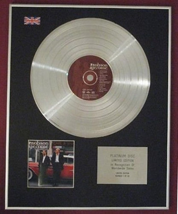 ROBSON & JEROME - CD Platinum Disc - ROBSON & JEROME