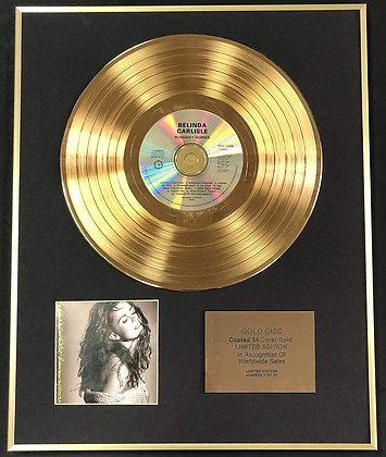 Belinda Carlisle - Exclusive Limited Edition 24 Carat Gold Disc - Runaway Horses