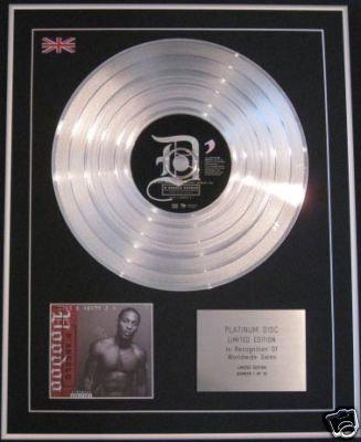 D'ANGELO - Ltd Edtn CD Platinum Disc- VOODOO