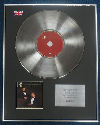 Michael Ball & Alfie Boe - Limited Edition CD Platinum LP Disc - Together