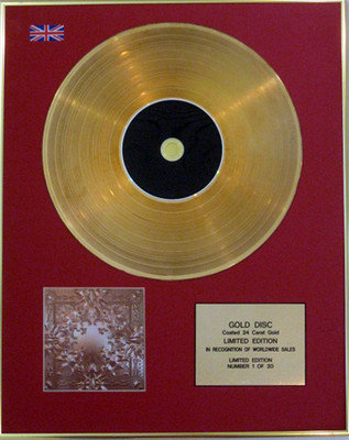 KANYE WEST & JAY Z - Ltd Edition CD 24 Carat Gold Disc  - WATCH THE THRONE