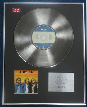America - Limited Edition CD Platinum LP Disc -Homeconing