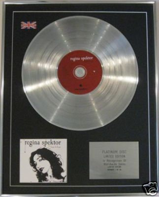 REGINA SPEKTOR  -  CD Platinum Disc - BEGIN TO HOPE
