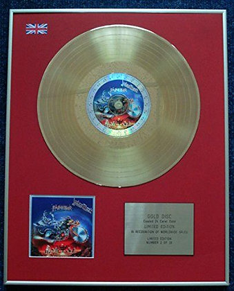 Judas Priest - Limited Edition CD 24 Carat Gold Coated LP Disc - Painkiller