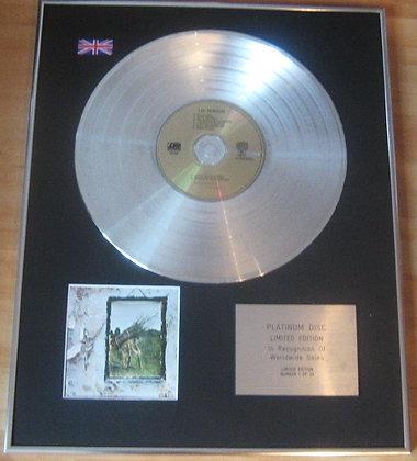 LED ZEPPELIN - CD Platinum Disc - LED ZEPPELIN IV