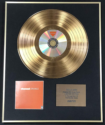 Frank Ocean - Exclusive Limited Edition 24 Carat Gold Disc - Channel Orange
