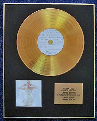 Annie Lennox - LTD Edition CD 24 Carat Gold Coated LP Disc -The Annie Lennox…