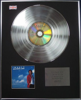 JEAN MICHEL JARRE - Limited Edition CD Platinum Disc - IMAGES ( THE BEST OF)