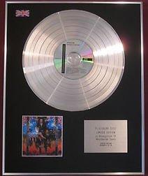 STEVE VAI -  CD Platinum Disc - PASSION & WARFARE