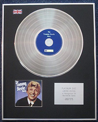 Tommy Steele - Limited Edition CD Platinum LP Disc - The Tommy Steele Story