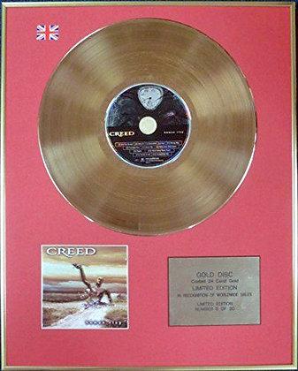 CREED - Ltd Edition CD 24 Carat Coated Gold Disc - HUMAN CLAY