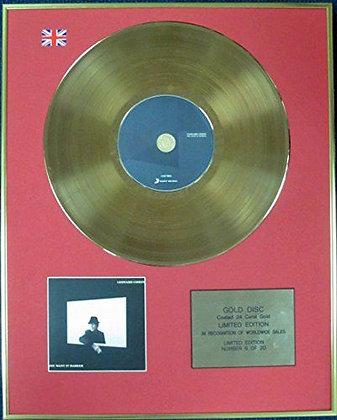 LEONARD COHEN - Ltd Edition CD 24 Carat Coated Gold Disc - YOU WANT IT DARKER