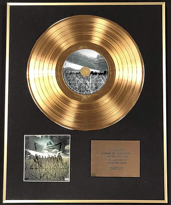 Slipknot - Exclusive Limited Edition 24 Carat Gold Disc - All Hope Is Gone