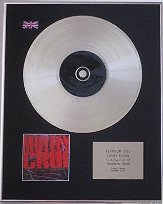 MOTLEY CRUE - CD Platinum Disc - 'MOTLEY CRUE'