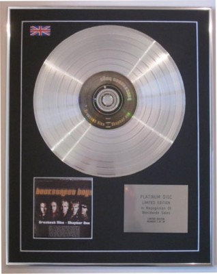 BACKSTREET BOYS  - Ltd CD Platinum Disc- GREATEST HITS