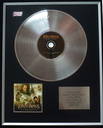 LORD OF THE RINGS - Limited Edition CD Platinum LP Disc - ORIGINAL SOUNDTRACK