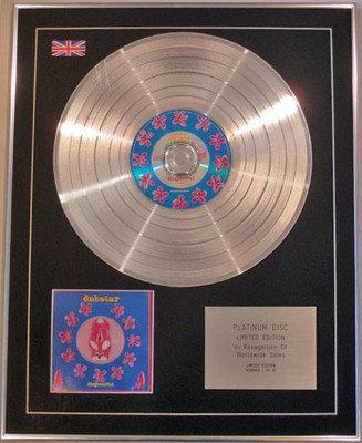 DUBSTAR - Limited Edition CD Platinum Disc - DISGRACEFUL