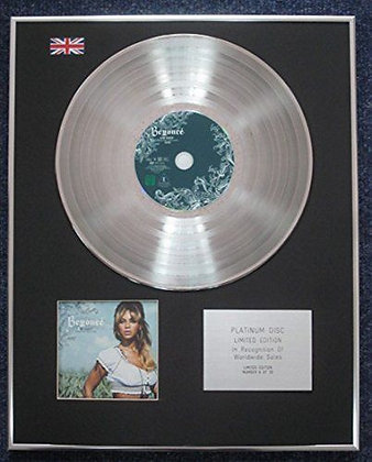 Beyonce - Limited Edition CD Platinum LP Disc - B Day