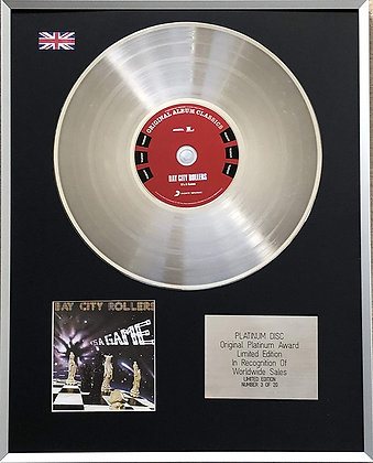 BAY CITY ROLLERS - Limited Edition CD Platinum LP Disc - IT'S A GAME